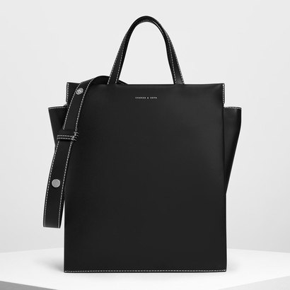 【2019 SUMMER 新作】ダブルハンドルチェーンリンク トートバッグ /Double Handle Chain Link Tote Bag (Black)
