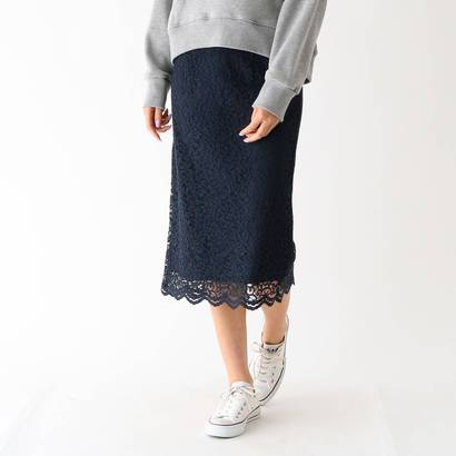 アクアガール aquagirl レースナロースカート (ネイビー)