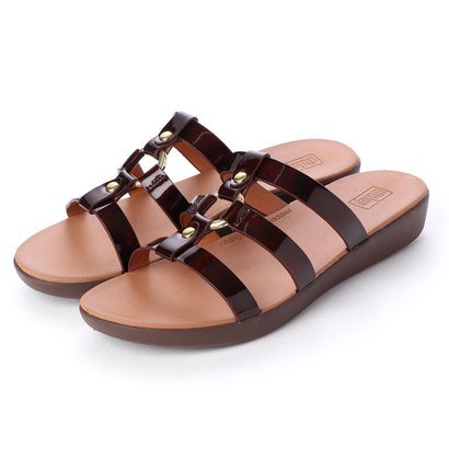 フィットフロップ fitflop HOOPLA TORTOISESHELL SLIDE (Chocolate Brown Turtle)