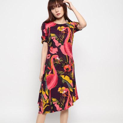 【アウトレット】デシグアル Desigual ドレスショート袖 (ブルー)
