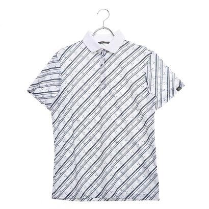 アディダス adidas メンズ ゴルフ 半袖シャツ ADICROSS クラブプリント S/S ポロ DW6277 (ホワイト)