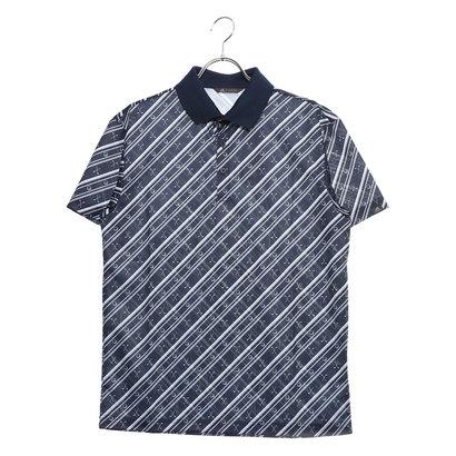 アディダス adidas メンズ ゴルフ 半袖シャツ ADICROSS クラブプリント S/S ポロ DW6280 (ネイビー)