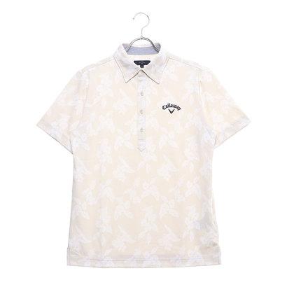 キャロウェイ Callaway メンズ ゴルフ 半袖シャツ ハナストライプジャカードレギュラーカラーシャツ 2419157530