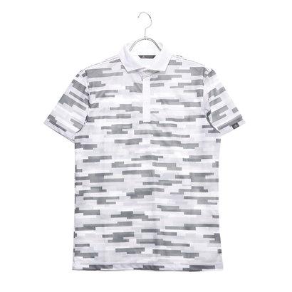 アディダス adidas メンズ ゴルフ 半袖シャツ ADICROSS カモプリント S/S ワイドカラーシャツ DW6288 (グレー)