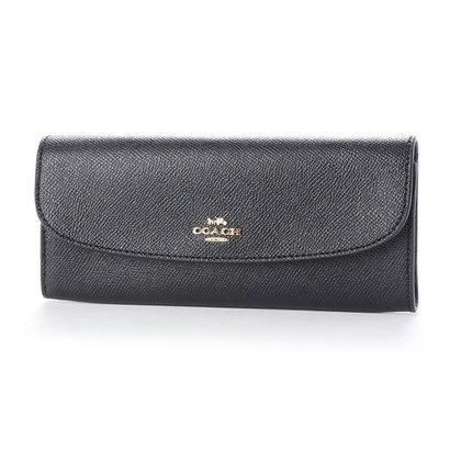 コーチ COACH F59949ラグジュアリー クロスグレーン レザー ソフト ウォレット 財布 (ブラック)