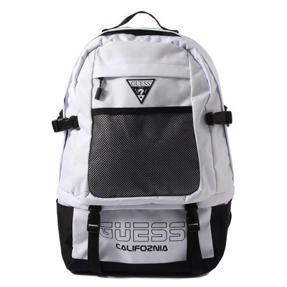 ゲス GUESS LOGO MESH BIG BACKPACK (WHITE)