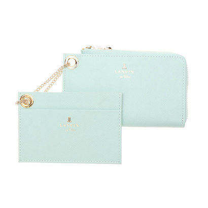 ランバン オン ブルー LANVIN en Bleu リュクサンブール カードケース&マルチケース (ミント)