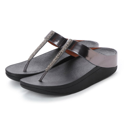 【アウトレット】フィットフロップ FitFlop FINO CRYSTAL TOE-THONG SANDALS (Pewter)
