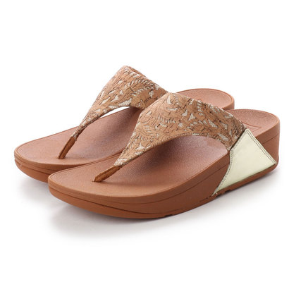 【アウトレット】フィットフロップ FitFlop LULU TOE-THONG SANDALS - MIRROR / CORK (Cork/Gold Mirror)