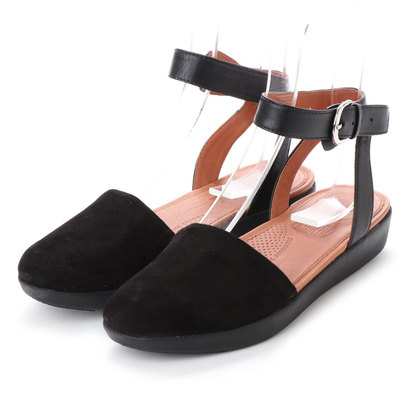 【アウトレット】フィットフロップ FitFlop COVA CLOSED-TOE SANDALS - SUEDE (Black)