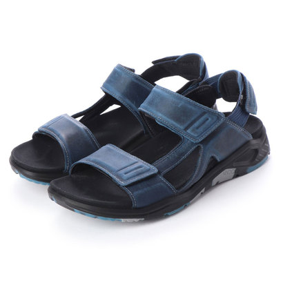 エコー ECCO Mens X-TRINSIC Flat Sandal (TRUE NAVY)