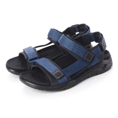 エコー ECCO Mens X-TRINSIC Flat Sandal (BLACK/TRUE NAVY)