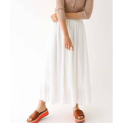 アクアガール aquagirl ラッセルレース ロングスカート (ホワイト)