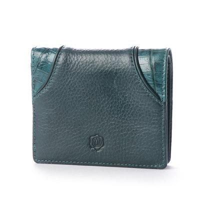 【アウトレット】シオン Shion 二つ折り財布(小銭入れ無し) (ブルーグリーン)