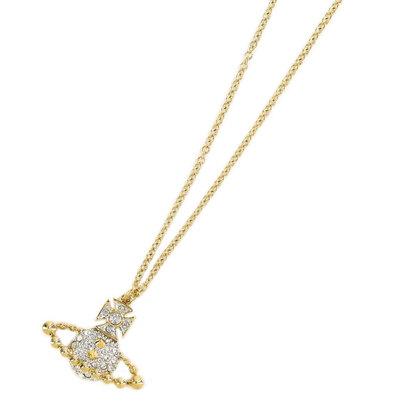 ヴィヴィアンウエストウッド Vivienne Westwood LENA BAS RELIEF PENDANT (CRYSTAL/RHODIUM/GOLD)