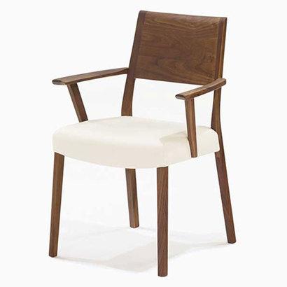 IDC OTSUKA/大塚家具 椅子 シネマ(肘付) B2タイプ レッドオーク材/WO色 PVCアイボリー (ホワイトオーク)【返品不可商品】