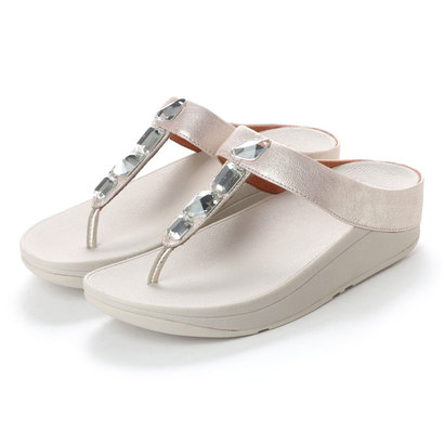 【アウトレット】フィットフロップ FitFlop ROKA TOE-THONG SANDALS - LEATHER (Silver)