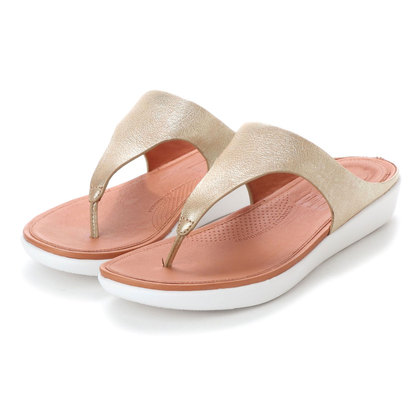【アウトレット】フィットフロップ FitFlop BANDA II TOE-THONG SANDALS - METALLIC LEATHER (Metallic Gold)