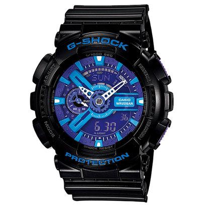 【G-SHOCK】Hyper Colors ハイパーカラーズ / GA-110HC-1AJF (ブラック×ブルー)