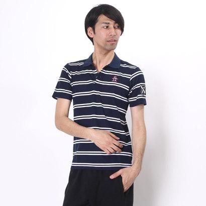 マンシングウェア Munsingwear ゴルフシャツ 半袖シヤツ(ニツト) RM1596 (ネイビー)