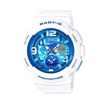 【BABY-G】Beach Traveler Series (ビーチ・トラベラー・シリーズ) / BGA-190GL-7BJF (ホワイト×ブルー)