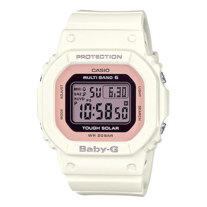 【BABY-G】BGD-5000シリーズ / 電波ソーラー / BGD-5000-7DJF (ホワイト×ピンク)