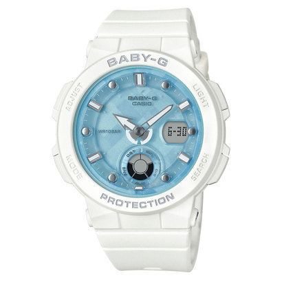 【BABY-G】Beach Traveler Series(ビーチ・トラベラー・シリーズ) / BGA-250-7A1JF (ホワイト×ブルー)