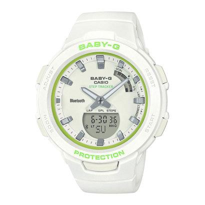 【BABY-G】G-SQUAD(ジー・スクワッド) / スマートフォンリンク / BSA-B100SC-7AJF (ホワイト×ライムグリーン)