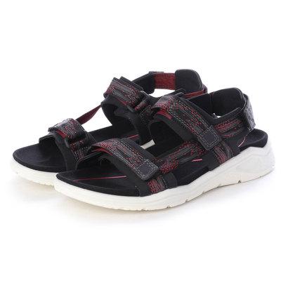 エコー ECCO Womens X-TRINSIC Flat Sandal (BLACK/TEABERRY)