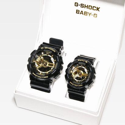 【G-SHOCK&BABY-G】Black×Gold Series(ブラック×ゴールドシリーズ) / GA-110GB-1AJF × BA-110-1AJF (ブラック×ゴールド)