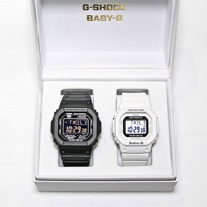 【G-SHOCK&BABY-G】Pair Model / 電波ソーラー GW-M5610-1BJF × BGD-5000-7JF (ブラック×ホワイト)