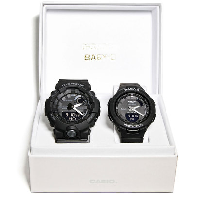 【G-SHOCK&BABY-G】Pair Model / G-SQUAD(ジー・スクワッド) / GBA-800-1AJF × BSA-B100-1AJF (ブラック)