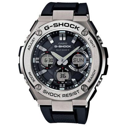 【G-SHOCK】G-STEEL(Gスチール) / 電波ソーラー / GST-W110-1AJF (ブラック×シルバー)