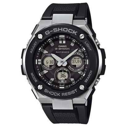 【G-SHOCK】G-STEEL(Gスチール) / GST-W300-1AJF (ブラック×シルバー)