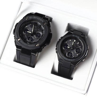 【G-SHOCK&BABY-G】Pair Model / G-STEEL&G-MS GST-W300G-1A1JF × MSG-W100G-1AJF (ブラック)