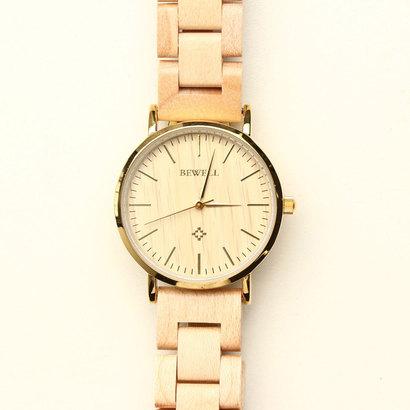 スマイルプロジェクト SMILE PROJECT 木製腕時計 軽量 安心の天然素材 ナチュラルウッドウォッチ 天然木 レディース腕時計 WDW028-01 (1)
