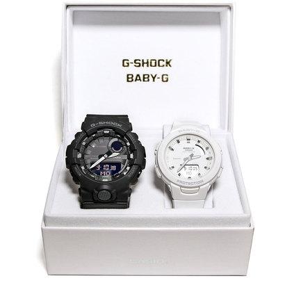 【G-SHOCK&BABY-G】Pair Model / G-SQUAD(ジー・スクワッド) / GBA-800-1AJF × BSA-B100-7AJF (ブラック×ホワイト)