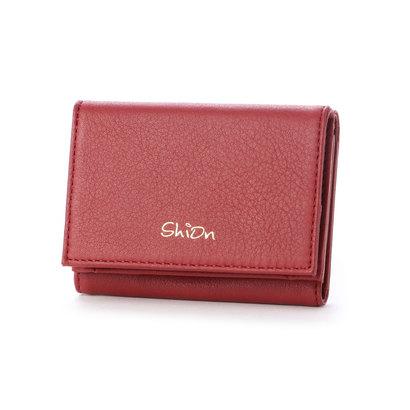 シオン Shion 三つ折り財布 (ワイン)