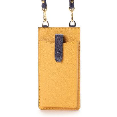 キプリス ウィメンズ CYPRIS Women's グラーノワークス カード段付きスマートフォンショルダー iPhone 7,8,X,第2世代SE(イエロー×ダスティパープル)