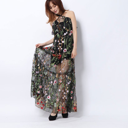 【アウトレット】ゲス GUESS LONG FLORAL PRINT DRESS (FANTASY EXPLOSION FLOWER)