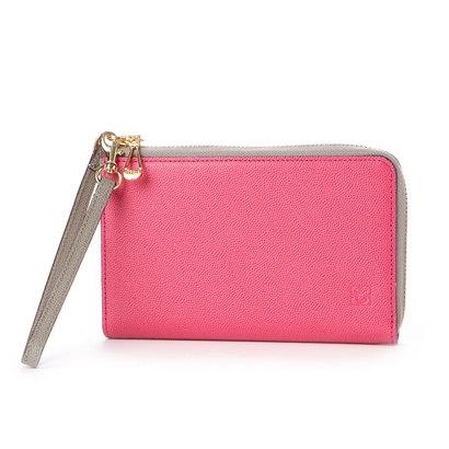 キプリス ウィメンズ CYPRIS Women's グラーノワークス スマートフォン対応LFミドル財布 (ローズピンク×グレイ)