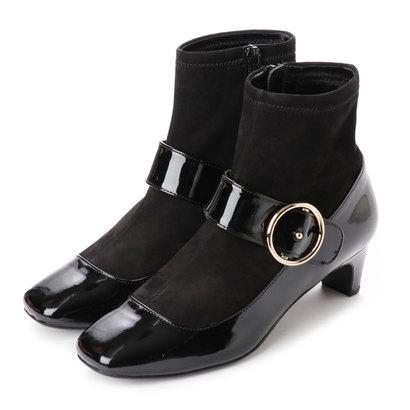 【アウトレット】ストロベリーフィールズ STRAWBERRY FIELDS ブーツ (ブラックエナメルコンビ)