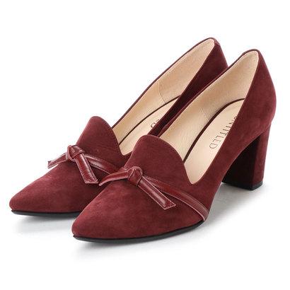【アウトレット】アンタイトル シューズ UNTITLED shoes リボンパンプス (ワインヌバック)