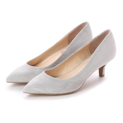 【アウトレット】アンタイトル シューズ UNTITLED shoes ポインテッドパンプス (ライトグレースエード)