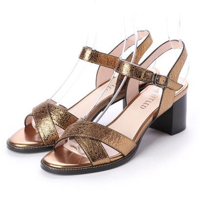 アンタイトル シューズ UNTITLED shoes チャンキーヒールサンダル (ブロンズ)