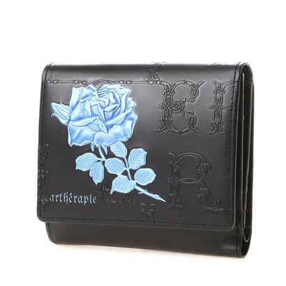 アルセラピィ artherapie フィセルローズ 二つ折り財布 アウトポケット(ブルー)