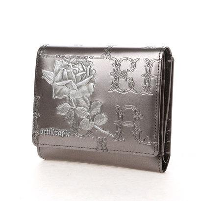 アルセラピィ artherapie フィセルローズ 二つ折り財布 アウトポケット(シルバー)