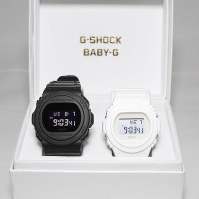 【G-SHOCK&BABY-G】 Pair Model / DW-5750E-1BJF × BGD-570-7JF (ブラック×ホワイト)