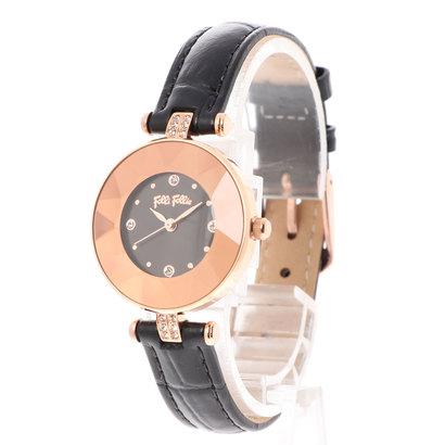 フォリフォリ Folli Follie CHIC & SLEEK カットガラスウォッチ/腕時計 (ブラック)