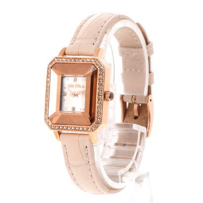 フォリフォリ Folli Follie STYLE PRISMA レクタングラーレザーベルトウォッチ/腕時計 (ピンク)